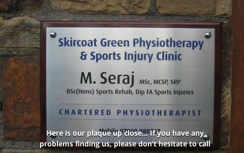 Halifax physiotherapy, Greenroyd Avenue